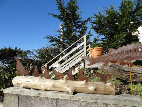quail and driftwood