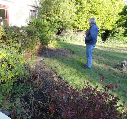 Allan touring the garden.