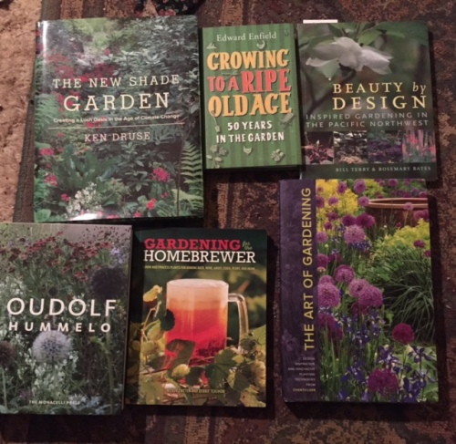 Gardening books I have acquired and not yet read...