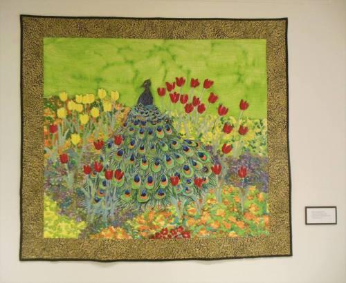 A beautiful quilt by fabric artist Abby Schlingensiepen
