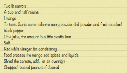 curried carrot raisin salad
