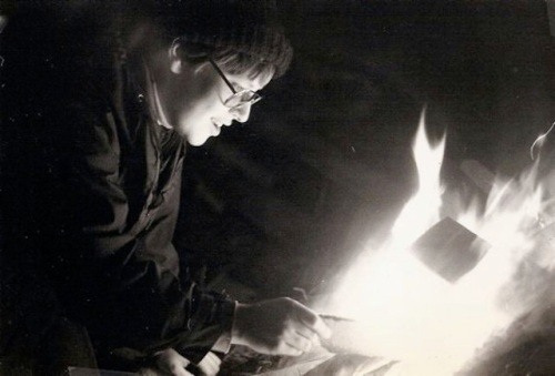 another favourite photo: Artemis by firelight