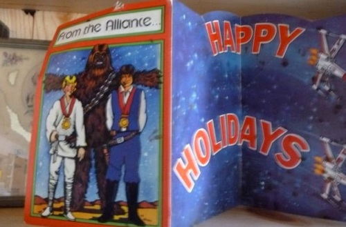 a holiday card that I sent out in 1980 or before