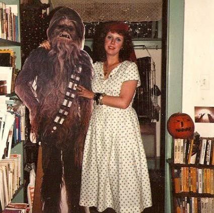 me with my Halloween date in 1981