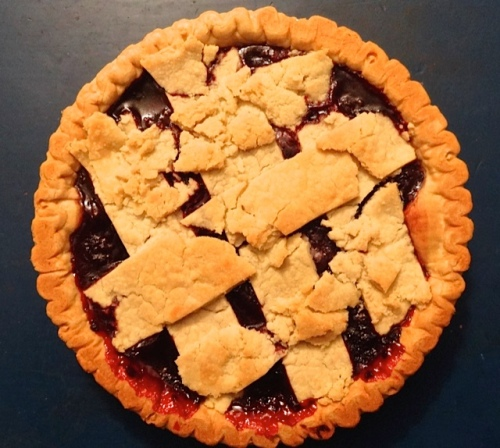 Allan made blackberry pie.