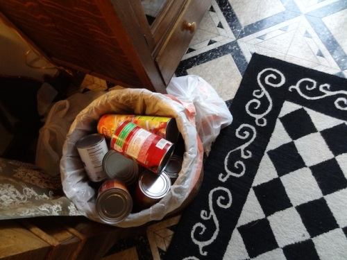 The entry price to the event was a can of food for the food bank; by the time we left, the receptacle was overflowing.