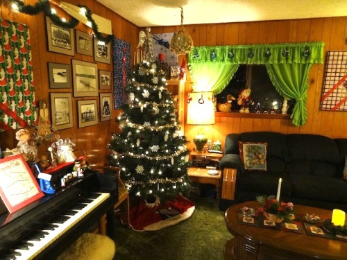 a second tree in the den