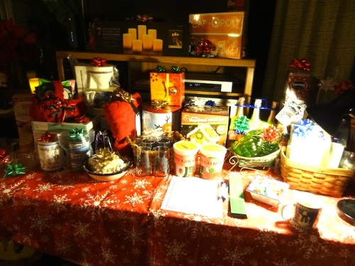 a table full of gifts