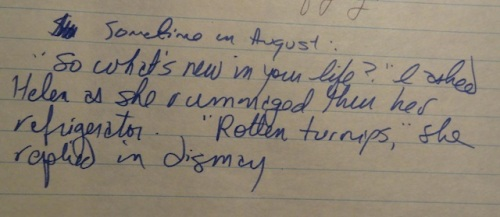 Passages like this are why I find I cannot discard the journals!