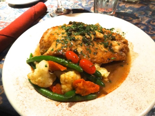 The rest of us had petrale sole with lemon caper sauce.
