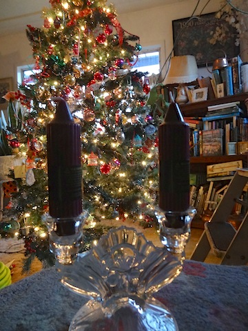 from Mary and Denny, some candlesticks and wine