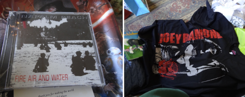 He found me two blasts from the musical past: Napalm Beach and Joey.
