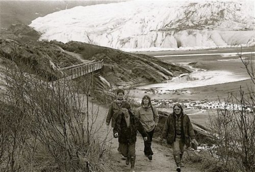 a trip to Juneau to visit friends. Mendenhall Glacier was huge in 1978.