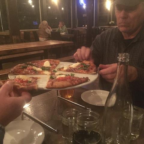 The margherita pizza was especially delicious.