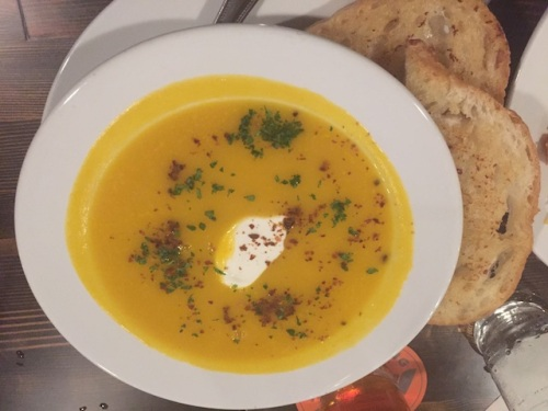 squash soup of the day