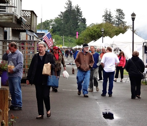 Betsy Millard (left), director of Ilwaco's Columbia Pacific Heritage Museum (Allan's photo)