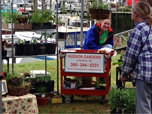 This new plant vendor will be there every other week (Rozanne and Darrel) (Allan's photo)