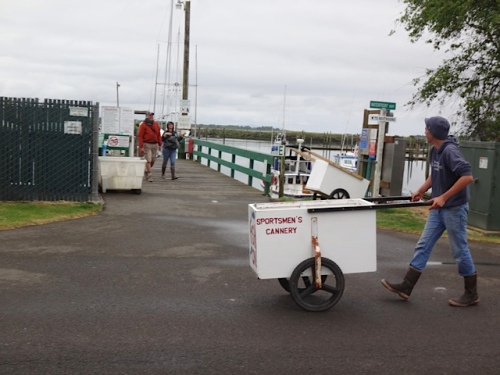 The canneries are bustling.  (Allan's photo)