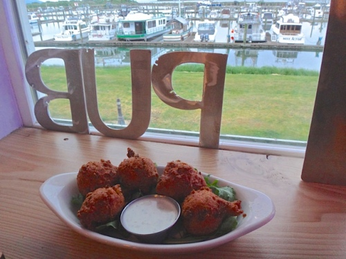 crab hush puppies (Allan's photo)