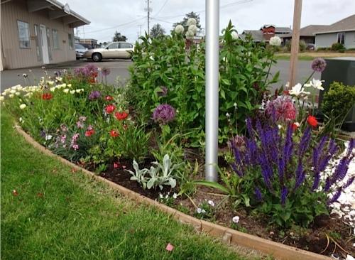 Veterans Field corner garden