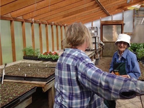 me and Teresa's mom, great seed grower