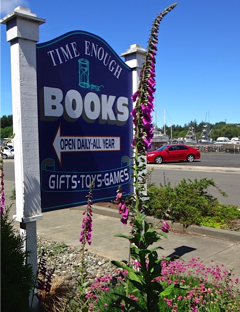 We did a bit of weeding at Time Enough Books (Allan's photo)