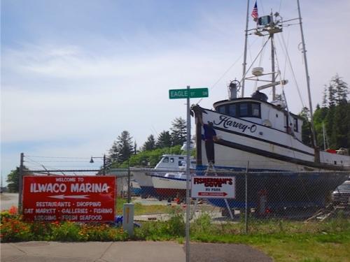 at the boatyard