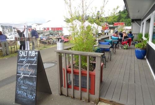 Salt Hotel deck and Saturday Market