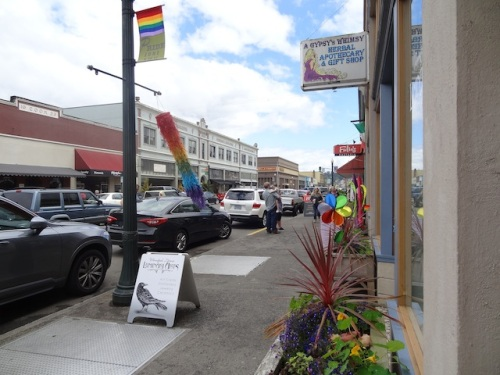 Pride banners downtown!