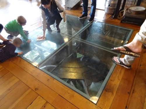 Buoy Beer: a glass floor to the river