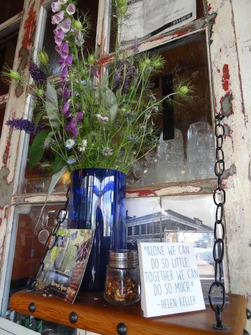 in the Blue Scorcher Café