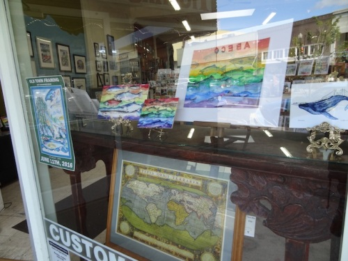 Old Town Framing Company was featuring art by our dear friend, Ilwaco's Don Nisbett.