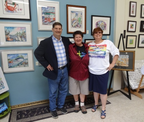 Don, Dulcye Taylor (art gallery owner) and Jenna