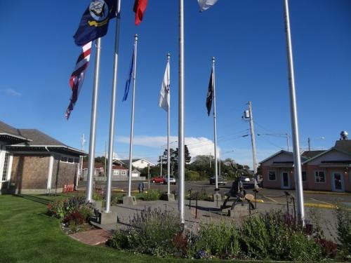 flag plaza garden
