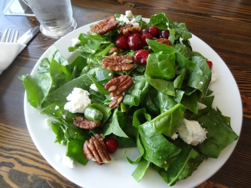 a salad for me (as I had had breakfast just an hour before)
