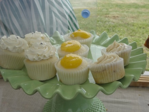 Allan had already been by and bought some lemon curd cupcakes.