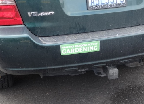 Other gardeners' vehicles were evident, as this was one of two hotels suggested for the study weekend.