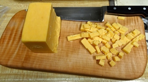 A fine use for the new cutting board. (Allan's photo)