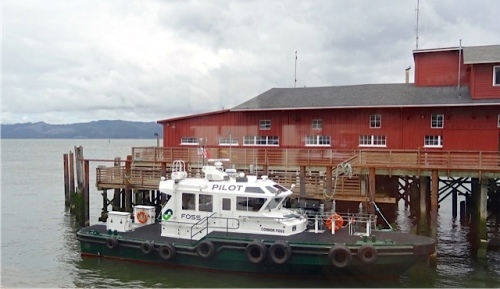 Pilot boats taking specially trained river captains to the big ships in order to pilots them over the hazardous Columbia Bar.