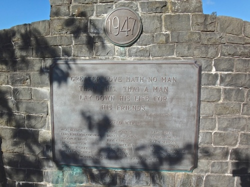 Black Lake memorial plaque