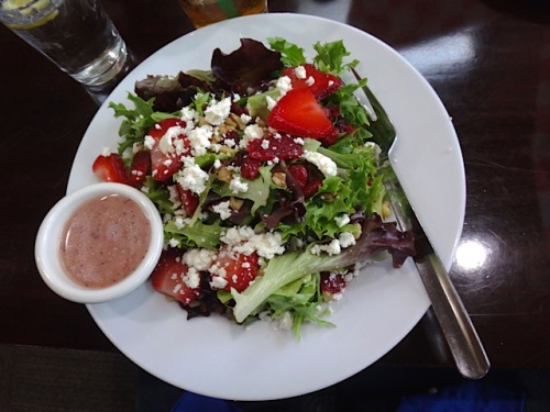 strawberry feta salad (Allan's photo)