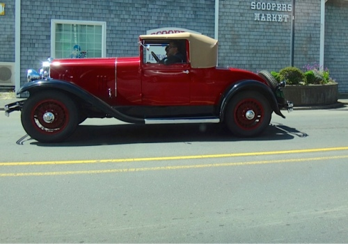There was an antique car event in town. (Allan's photo)