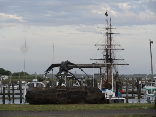 The Tall Ships were still in port.
