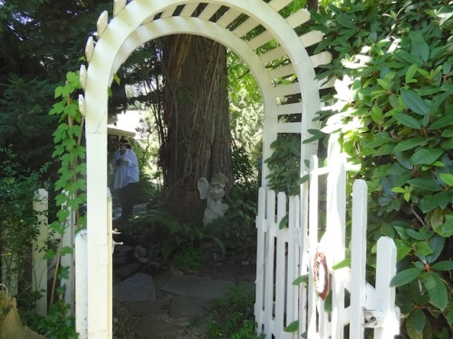 archway to the back garden