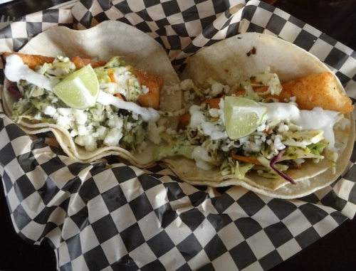 Two $3 fish tacos would make an economical meal.