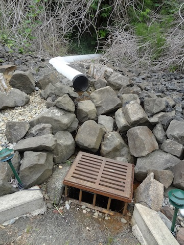 Thus begins the water course that is diverted down through the levels of the garden.