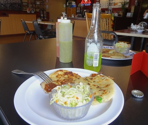 We tried four different flavours of pupusa, which I have never had before and now want to eat daily.