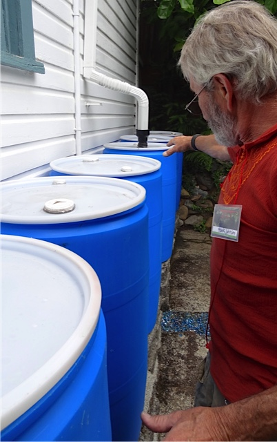 self leveling rain water barrels (Allan's photo)
