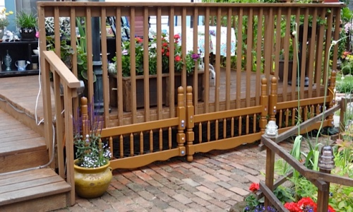 recycled edging for back deck (Allan's photo)
