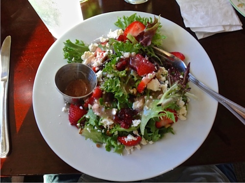 strawberry feta salad (Allan's photo)